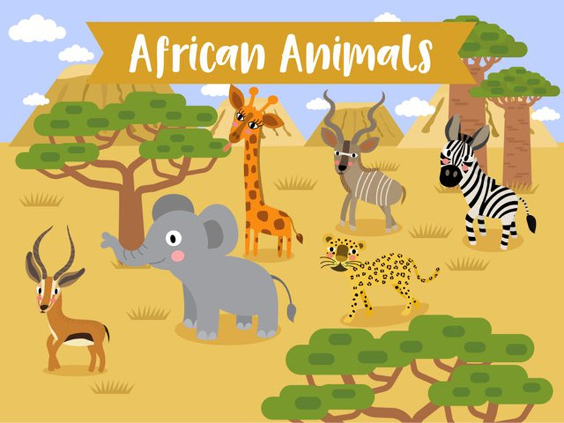 African Animals by Edil Rubinos