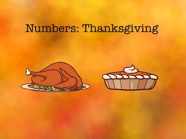 Numbers: Thanksgiving  by Carol Smith