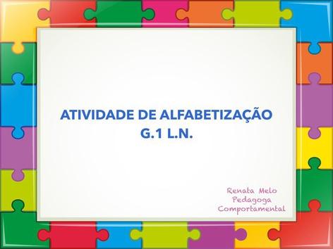 Alfa G1 L.N.  by Renata Melo