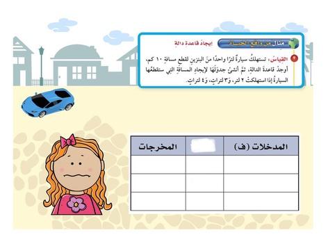 جداول الدوال by اسماء عبدالله
