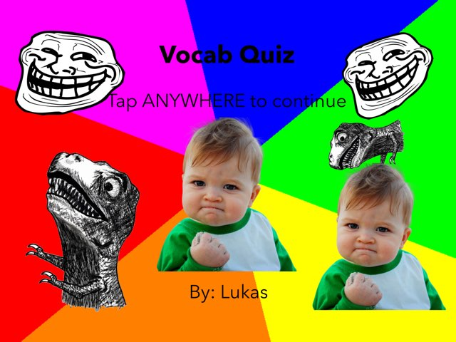 Vocabulary Quiz by Lukas Teuber Alliev