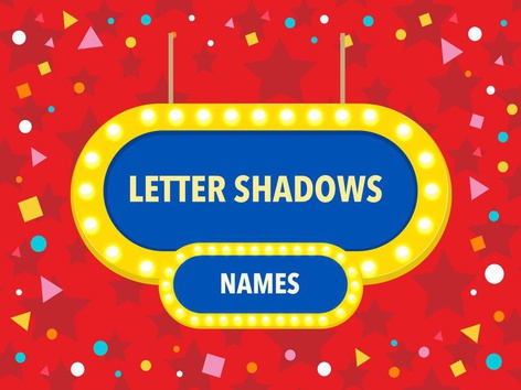 LETTER SHADOWS - PRE K A by Marcela Assis