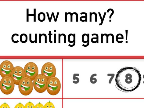 How Many? Counting Game  by Yam Goddard