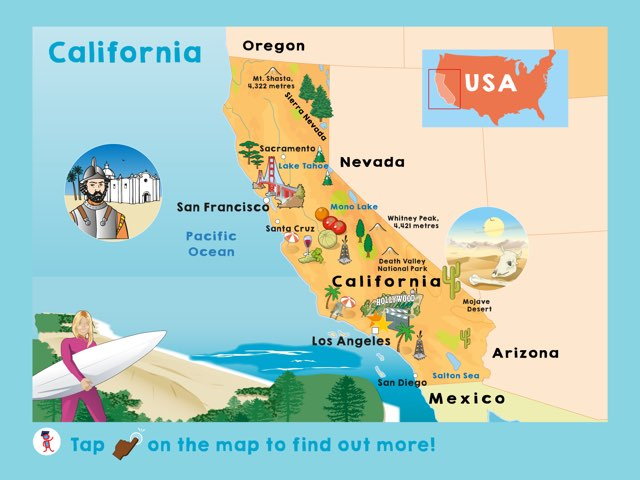 California by Kids Dailies - Educational Games for Kids on