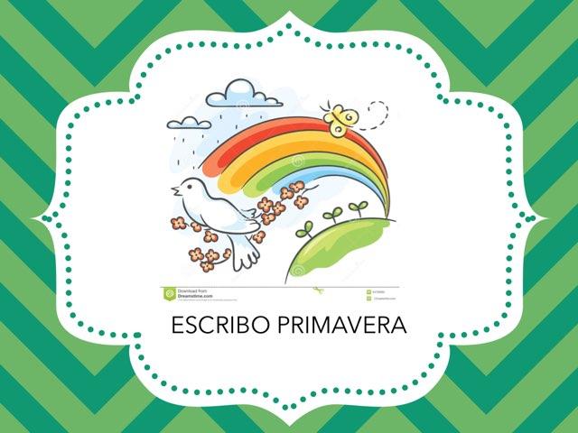 ESCRIBO PRIMAVERA by LAURA PARDO