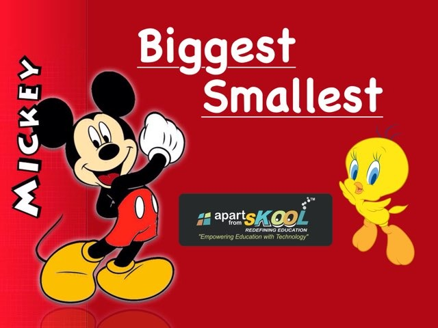 Biggest And Smallest by TinyTap creator
