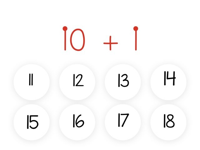 Addition Fact 10 With Touch Math by dwi kartika