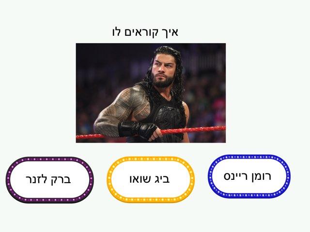 Wwe אלעד עילאי by בית ספר קישון