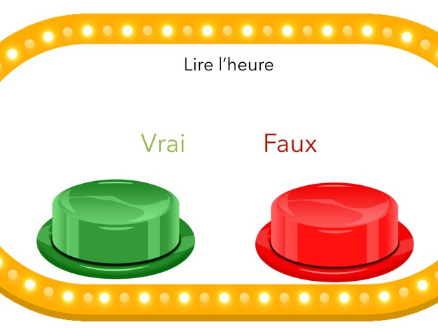 Lire L'heure by TinyTap creator