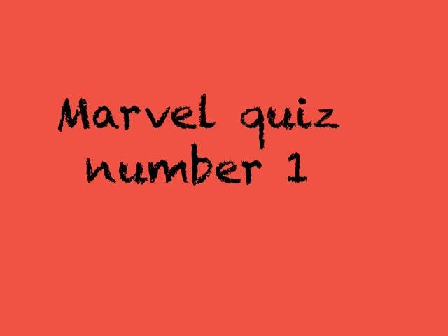 Marvel Quiz  by Mark Lockard