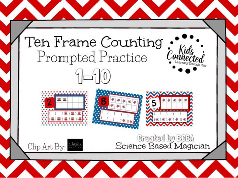 Ten Frame Prompted Practice: 4th Of July by Kids  Connected
