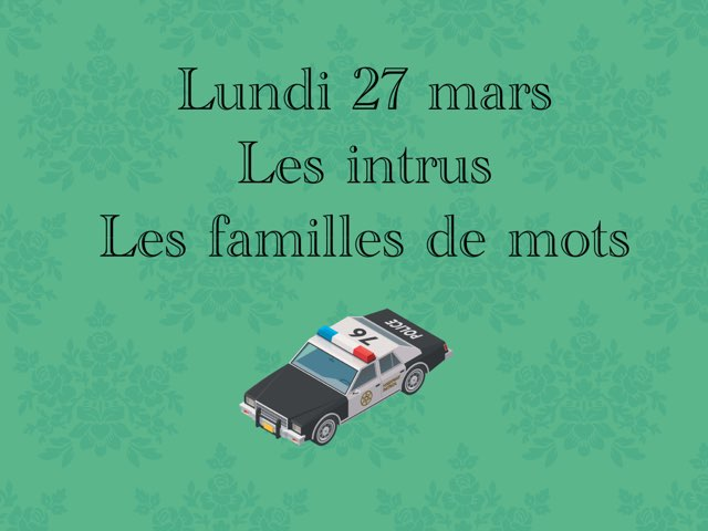M - Lun27 - Intrus Et Familles  by Caroline Gozdek