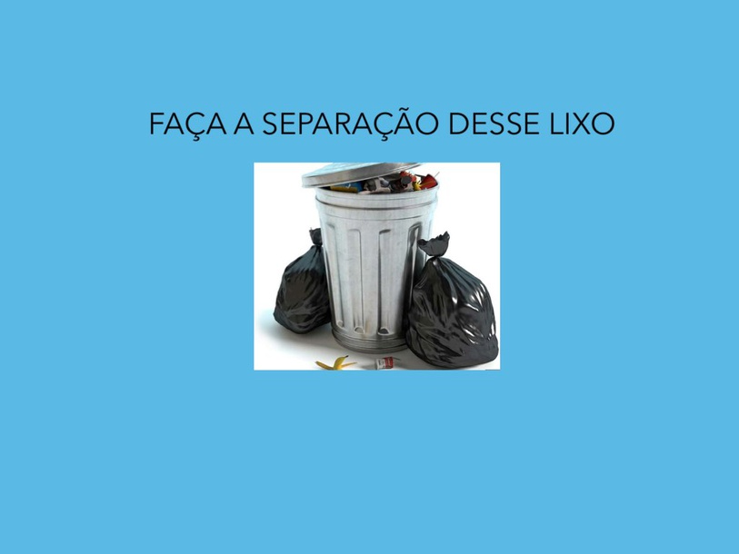 Separação do lixo by Catharina Roz