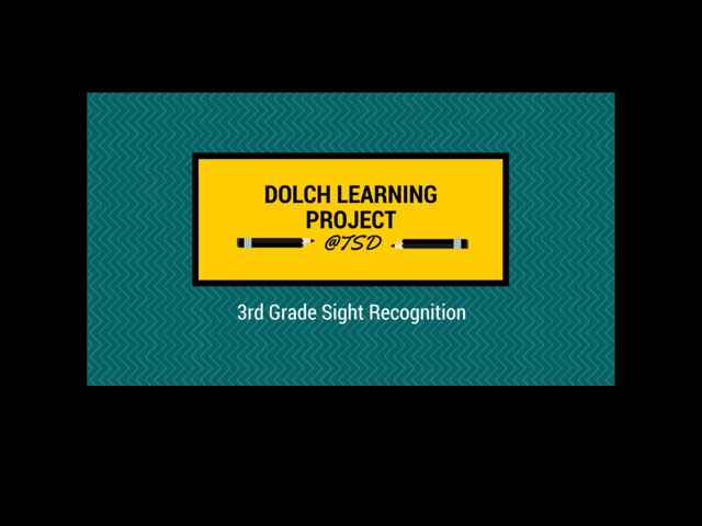 Sign ID 2: Dolch 3rd Grade by TSD Library