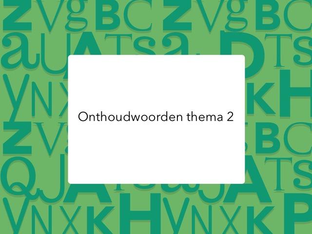 Onthoudwoorden thema 2 by Kirby Janseghers