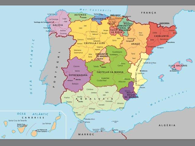 Mapa Espanya by Esther Cortés Martínez