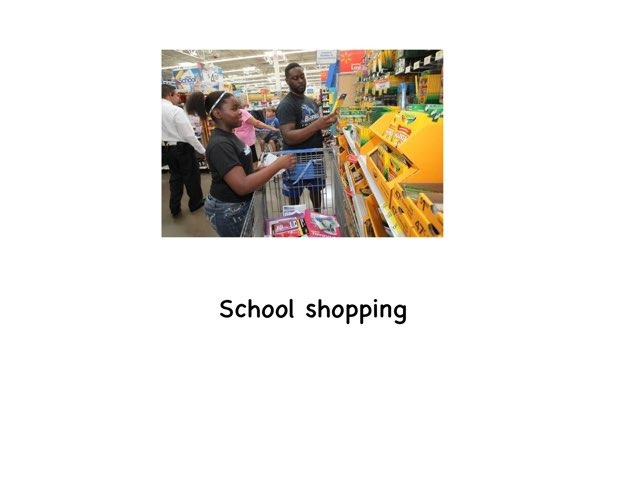 School Shopping  by Rebecca Jarvis