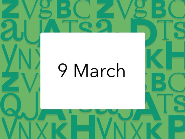 9 March by Resource Room