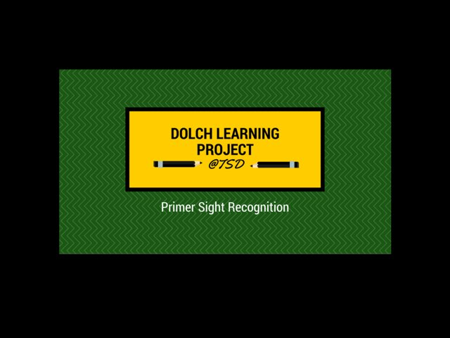 Sign ID 2: Dolch Primer by TSD Library