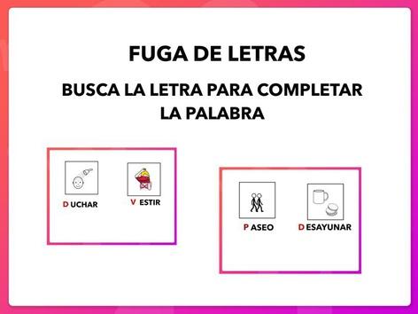 FUGA DE LETRAS by Francisca Sánchez Martínez