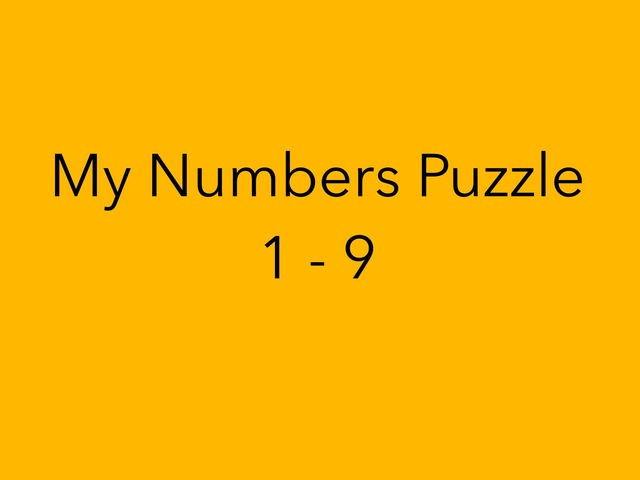 My Numbers Puzzle 1-9 by Sonia Landers