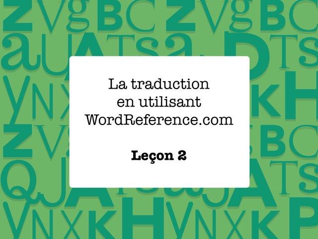 Leçon 2.1 by Pam Parenty