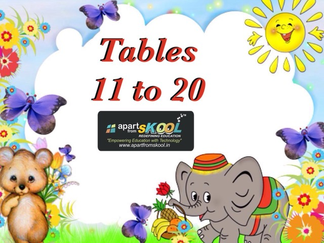 Tables 11- 20  by TinyTap creator