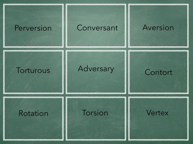 10th Turning and Twisting Vocabulary Review by Barb Doty