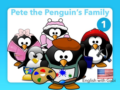 Pete's Family 1- Reading Simple Stories by English with Gabi אנגלית עם גבי