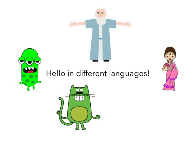 Learning Hello In Different Languages by Flora Silver