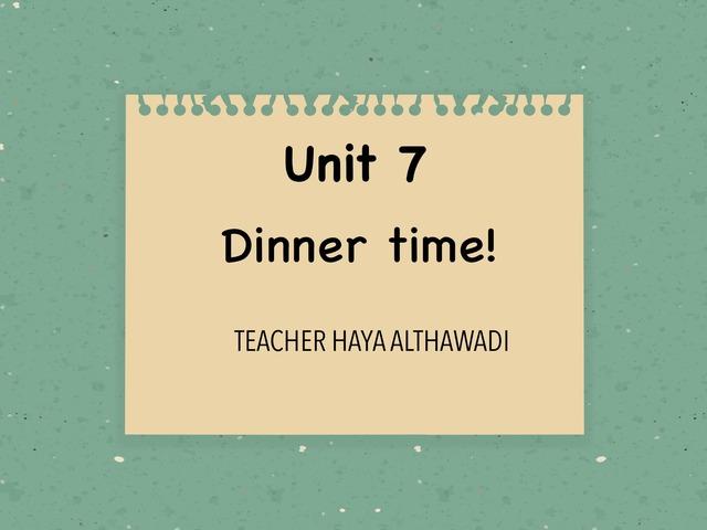 Dinner Time by Haya Althawadi
