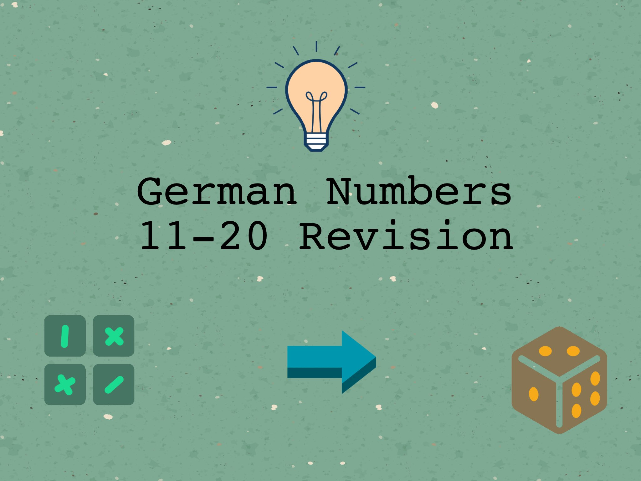German Numbers 11-20 Revision by Josh Dobos - Educational