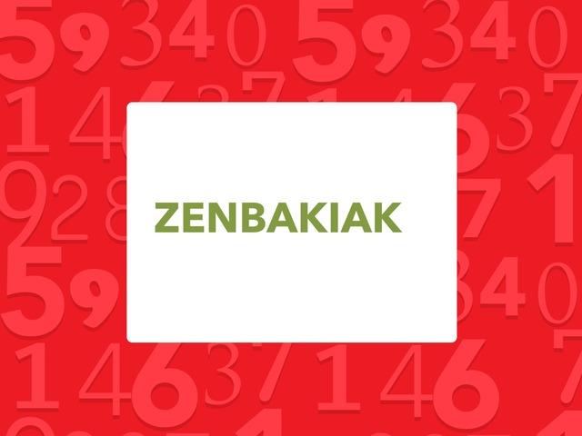 ZENBAKIAK 1- 100 by Aiora Atutxa