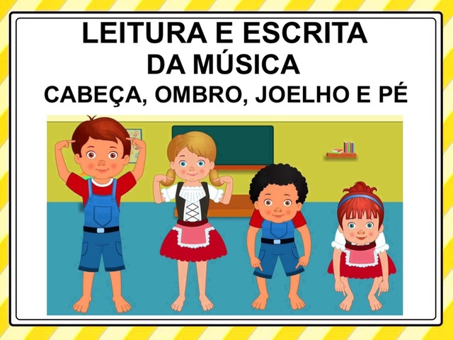 CABEÇA, OMBRO, JOELHO E PÉ by Tobrincando Ufrj