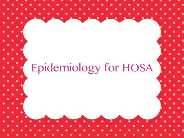 Epidemiology by Sylvia Davis