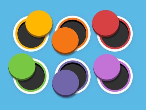 פאזל מודרך - התאמת צבעים לעיגולים by Tiny Tap