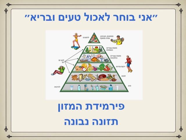 פירמידת המזון  תזונה נבונה רמה 2 by Lorena elalam