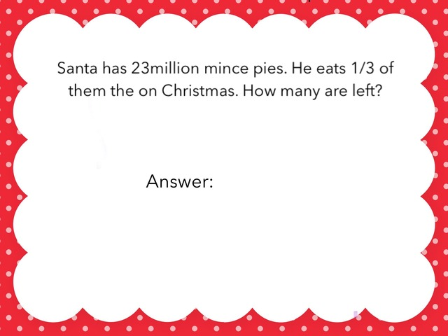 The Christmas Math Game By Natalie And Angel  by Gemma Clarke