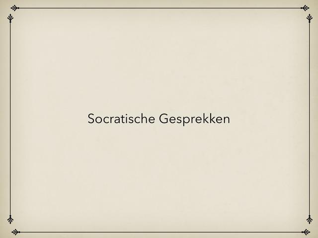 Socratische Gesprekken by Caspar Middeldorp