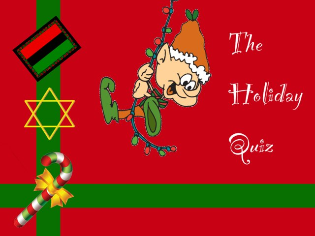 A Holiday Quiz by Bonnie Bear