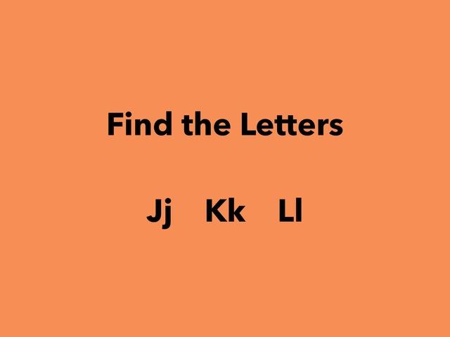 Letters Jj Kk Ll by Lori Board