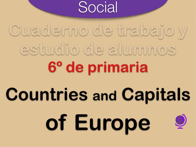 Countries and Capitals of Europe by Elysia Edu