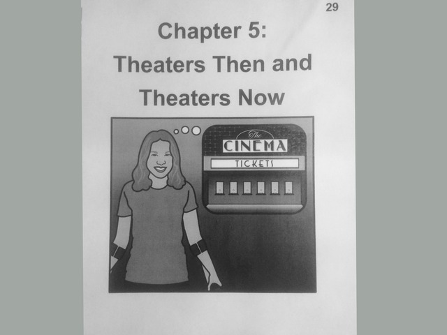 November Lesson 6: Chapter 5 Reading Of Theaters Then And Theaters Now by Tanya Folmsbee