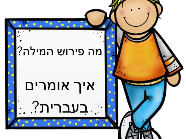 איך אומרים בעברית? by גילה מלכא