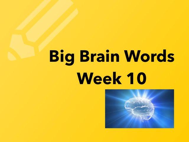 Big Brain Week 10 by Michelle Knight