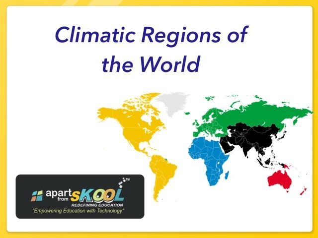 Climatic Region Of World by TinyTap creator