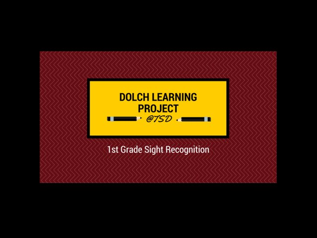 Vocabulary Introduction 1: Dolch 1st Grade by TSD Library