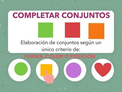 COMPLETAR CONJUNTOS. CRITERIO DE: FORMA, COLOR O POSICIÓN. by Jose Sanchez Ureña