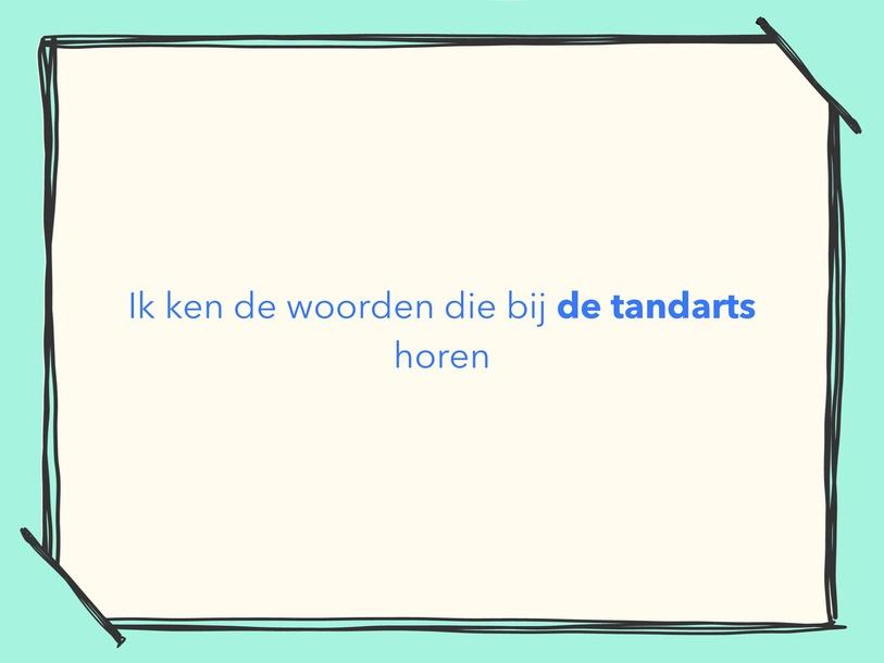 Woordenschat Thema Tandarts by Sarah Koolhaas
