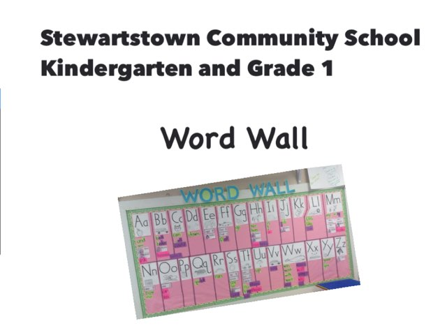 SCS Word Wall 1 by Jennifer Lowton